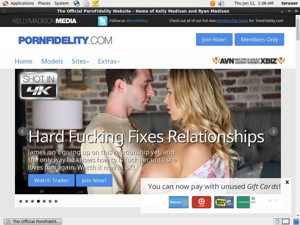 Join Porn Fidelity Gift Card