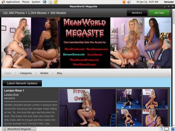MegaSite World Mean Login Account