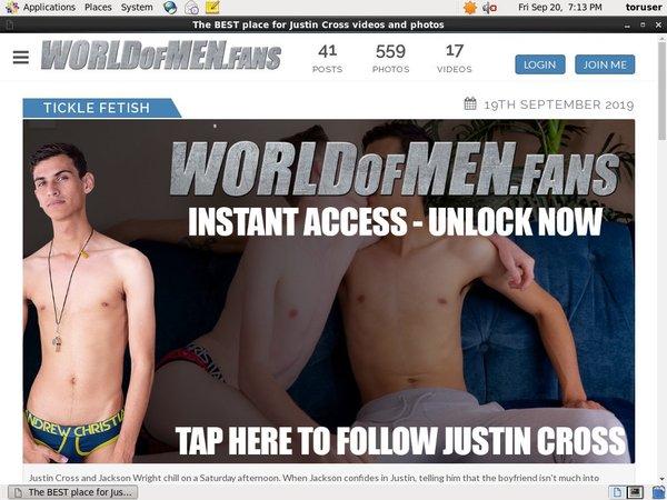 World Of Men Fans - Justin Crosspassword