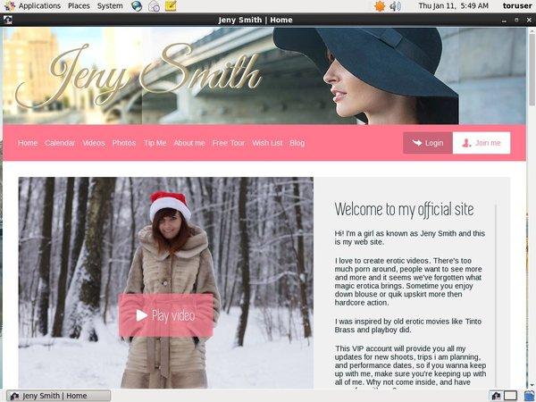 Jeny Smith Accounts Password