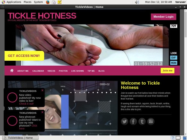 TICKLE HOTNESS Member Discount