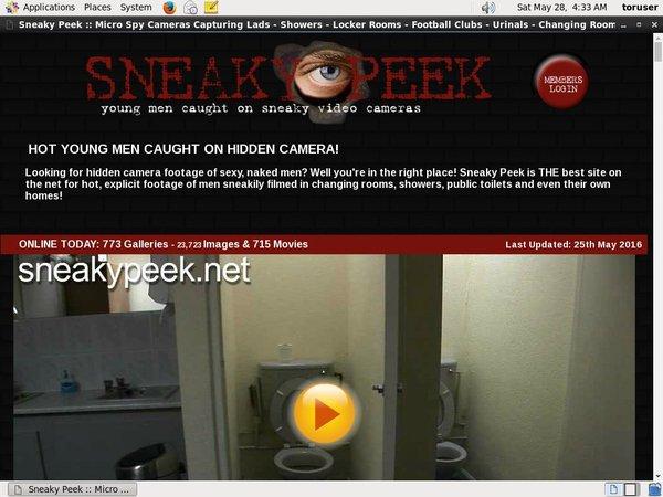 Sneakypeek.net Account Login
