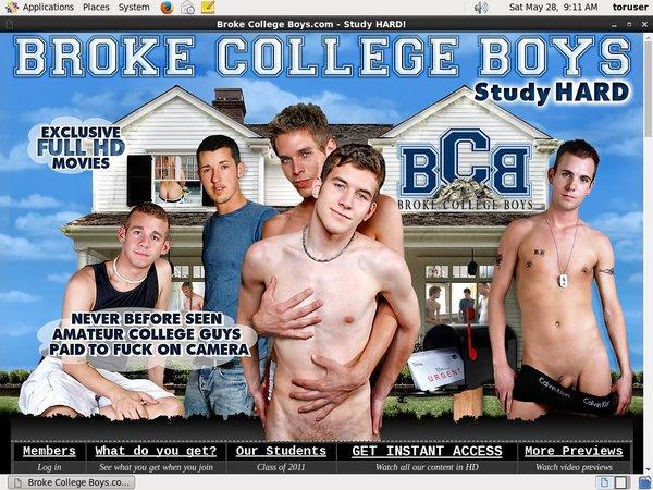 Broke College Boys Password Details