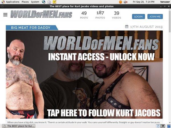 World Of Men Fans - Kurt Jacobs Buy Points